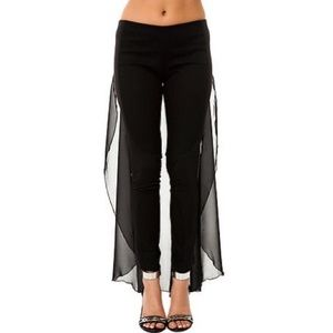 Dimepiece black pants with sheer attachment